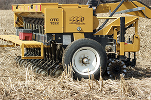 Drill Seeding Equipment in the field