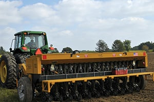 Drill Seeding Equipment in action